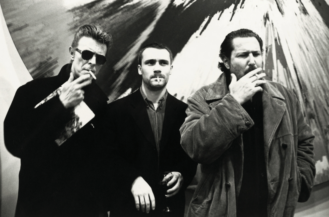 David Bowie, Damien Hirst, Julian Schnabel, New York