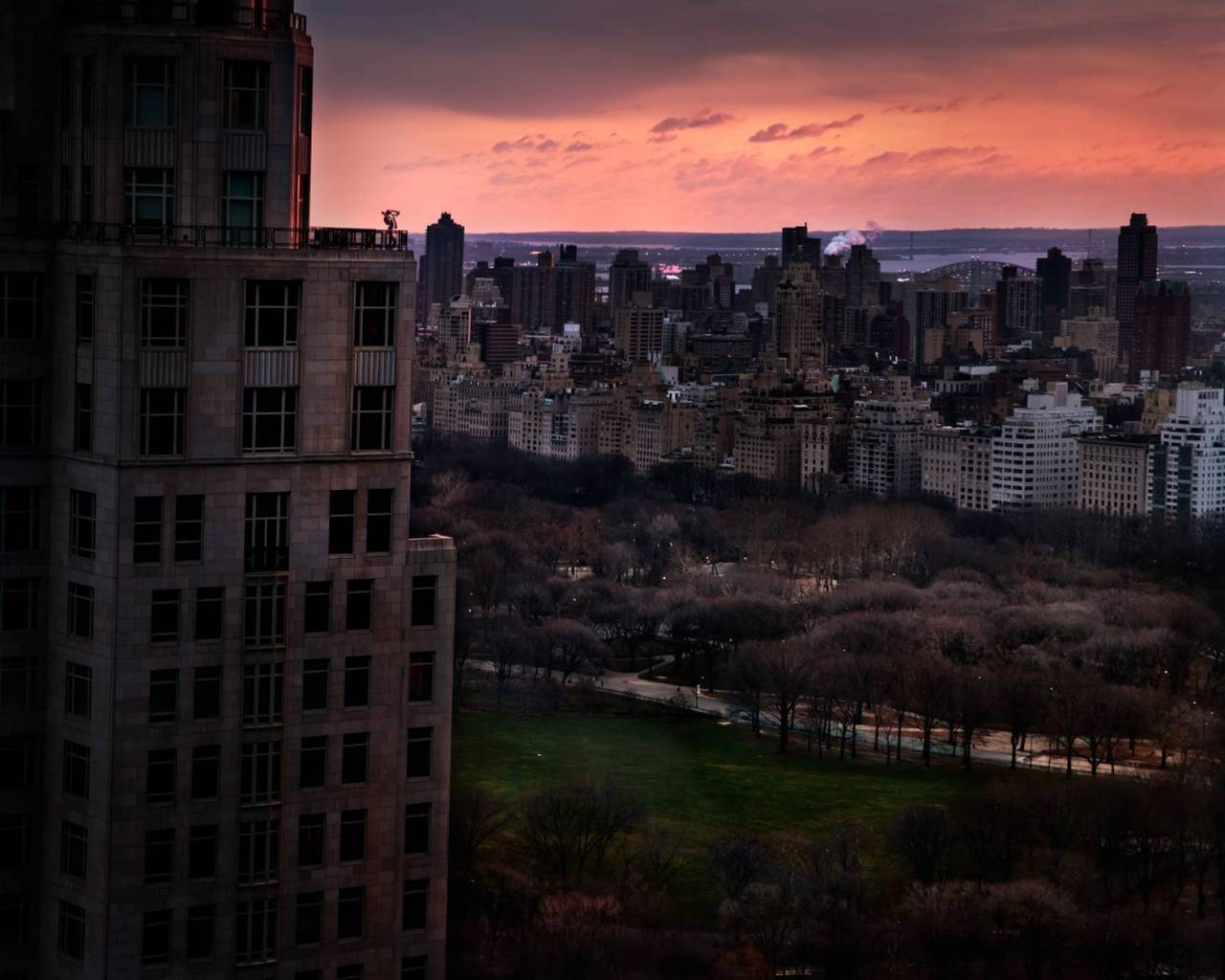 Girl over Central Park