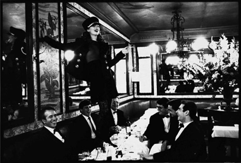 Kate Moss at Cafe Lipp, Paris II