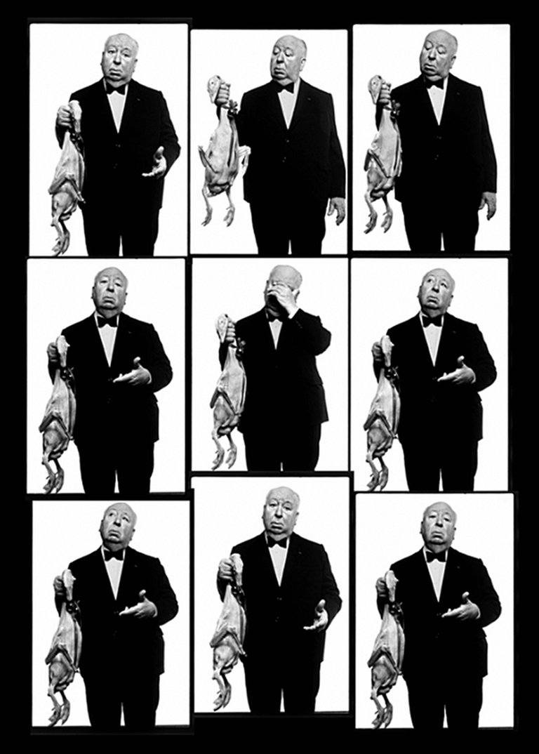 Alfred Hitchcock with Goose Contact Sheet