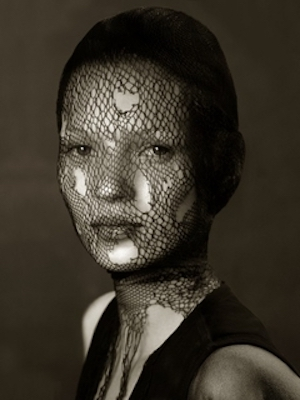 Kate Moss In Torn Veil