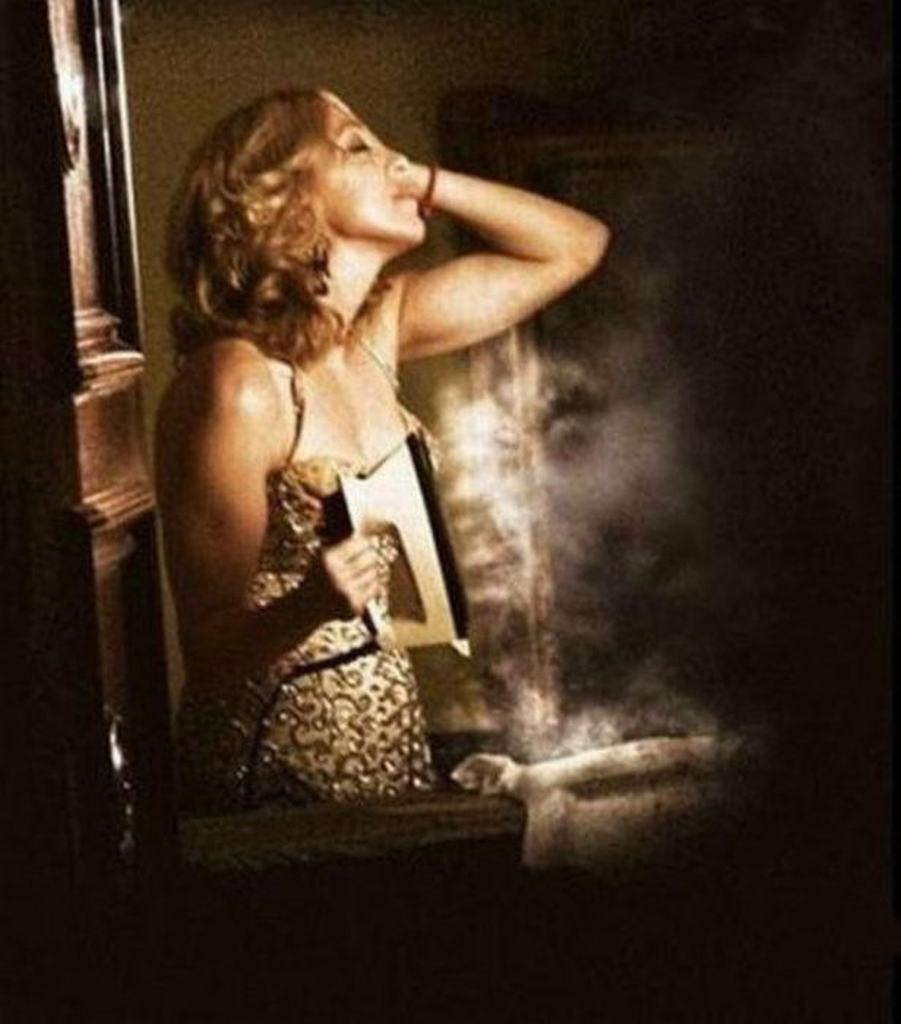 Madonna Ironing