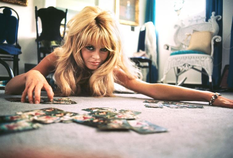 Brigitte Bardot playing cards II