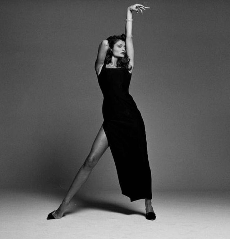 Helena Christensen Black Dress