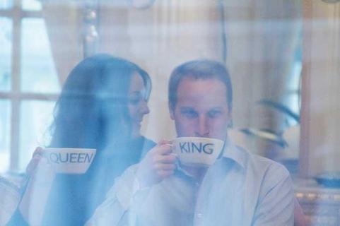 Wills & Kates Queen King teacups