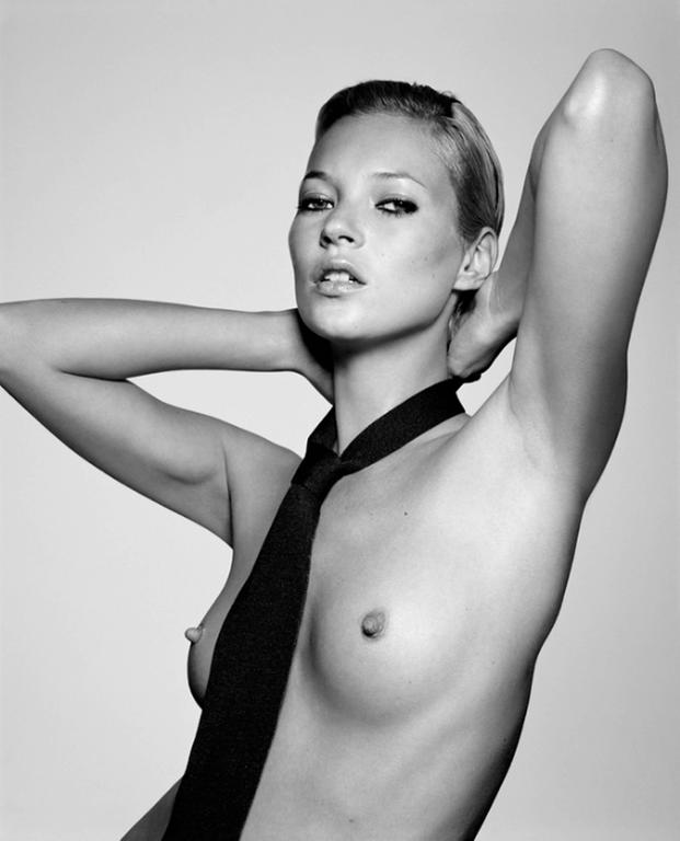 Kate Moss with Tie
