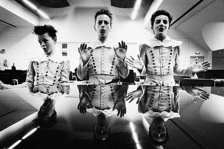 """Les trois genies de """"La Flute enchantee"""" de Mozart, Theatre royal de la Monnaie"""