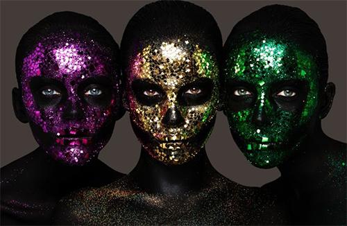 Sparkling Death Masks