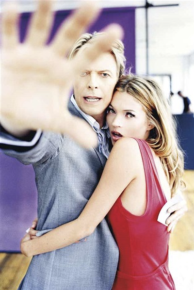 Kate Moss and David Bowie, Colour