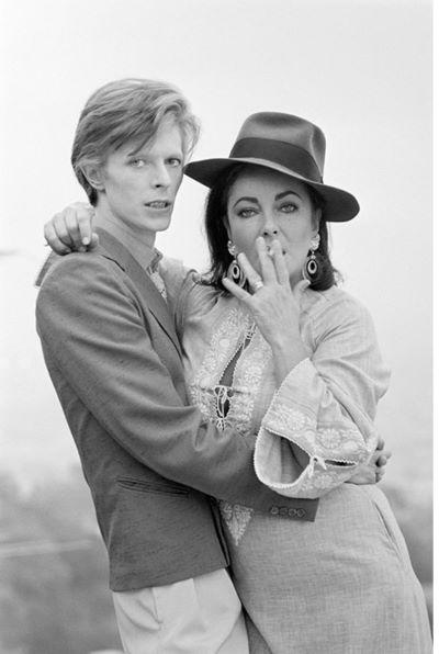 David Bowie & Elisabeth Taylor