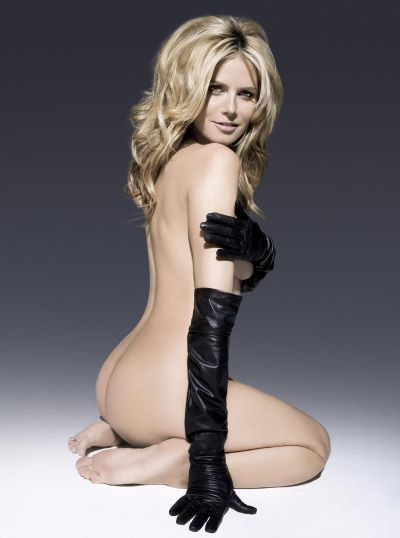 Gloved Heidi Klum