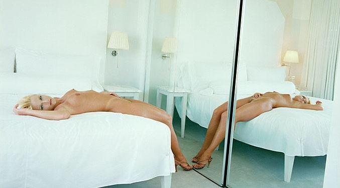 Helena in a white room