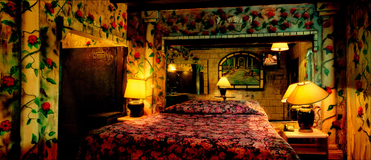 Bedroom at the Oasis Hotel