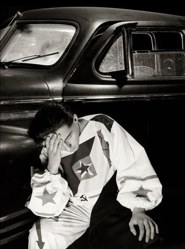 Man and Khrushchevs Hunting Limousine